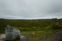 Visión sobre los campos de Connemara Fotografía de archivo