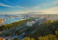 Visión sobre Málaga imagen de archivo