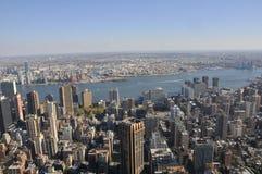Visión sobre Manhattan imágenes de archivo libres de regalías