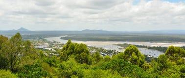 Visión sobre Noosa, Queensland, Australia fotos de archivo