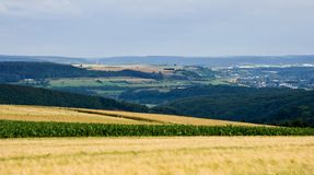 Visión sobre paisaje en Luxemburgo, Europa Imagen de archivo libre de regalías