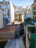 Visión sobre patio trasero en Buenos Aires Imagen de archivo libre de regalías