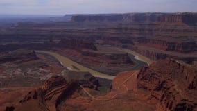Visión sobre punto del caballo muerto en Utah metrajes