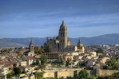 Visión sobre Segovia, España Foto de archivo