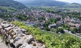 Visión sobre Staufen imagenes de archivo
