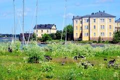 Visión sobre Suomenlinna, Finlandia Fotos de archivo libres de regalías