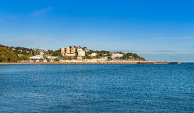 Visión sobre Torbay hacia el puerto de Torquay Imagen de archivo libre de regalías