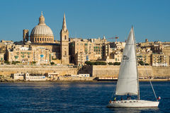 Visión sobre Valletta Imagenes de archivo