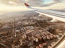 Visión soleada en la imagen aerean Imágenes de archivo libres de regalías