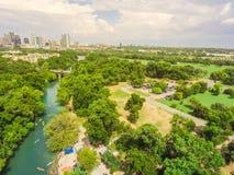 Visión superior Austin céntrico de Barton Creek Greenbelt fotos de archivo libres de regalías