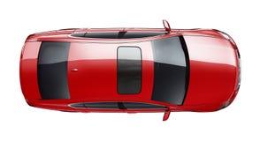 Visión superior automotriz roja Fotografía de archivo libre de regalías