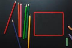Visión superior de nuevo a concepto de la escuela y a fondo de la educación Imagenes de archivo