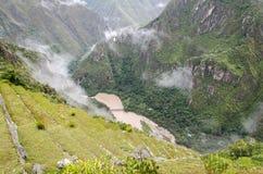 Visión superior desde Machu Picchu Fotografía de archivo libre de regalías