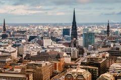 Visión superior Hamburgo Foto de archivo libre de regalías