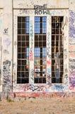 Visión a través: Casa vieja del poder Fotos de archivo