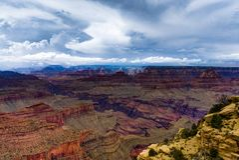 Visión a través de Grand Canyon Rim Arizona del sur Fotos de archivo libres de regalías