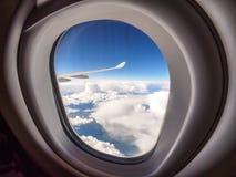 Visión a través de la porta de aviones fotos de archivo