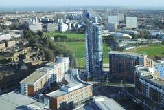 Visión a través de Portsmouth. Inglaterra Imágenes de archivo libres de regalías