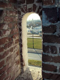 Visión a través de una escapatoria de un fortifi Fotos de archivo libres de regalías