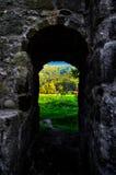 Visión a través de una puerta Fotos de archivo