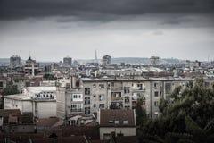 Visión a través de Zemun a Belgrado serbia Fotografía de archivo libre de regalías