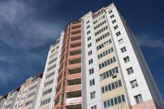 Visión urbana en el edificio moderno Foto de archivo