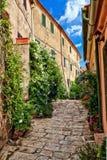 Visión urbana en Marciana - Elba Imagen de archivo libre de regalías