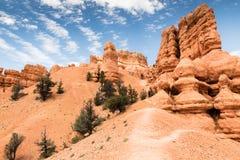 Visiónes desde el barranco rojo de la roca, Nevada fotografía de archivo libre de regalías