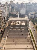 Visiónes desde el monumento a la bandera en la ciudad de Rosario fotos de archivo