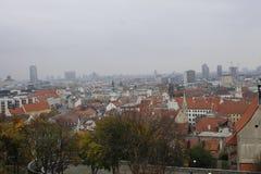 Visi?n desde el castillo de Bratislava imagen de archivo