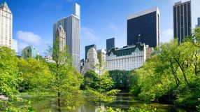 Visi?n desde el Central Park, Manhattan, NYC imágenes de archivo libres de regalías