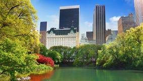 Visi?n desde el Central Park, Manhattan, NYC foto de archivo