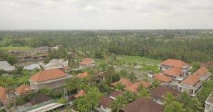 Visi?n desde el ubud superior Indonesia almacen de metraje de vídeo