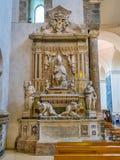 Visi?n interior en el santo Agatha Cathedral en Catania Sicilia, Italia foto de archivo libre de regalías