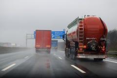 Visibilidade pobre na estrada fotos de stock