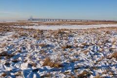 Visibilité de l'hiver de la Scandinavie Photographie stock libre de droits