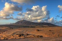 Visibilité directe Ajaches, Lanzarote, Îles Canaries, Espagne photographie stock libre de droits