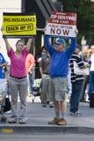 Visibilité directe Angeles le 6 octobre : Rassemblement de soins de santé Photo libre de droits