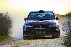 Visibilité directe Arcos, Espagne - 27 mars 2015 : Volkswagen expédiant dans la visibilité directe Photo stock