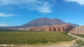 Visibilité directe Colorados de Cafayate Salta Argentine photographie stock