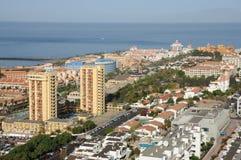 Visibilité directe Cristianos de ressource. Tenerife, Espagne Photo stock
