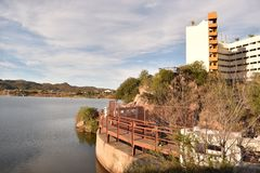Visibilité directe Funes, San Luis, Argentine de Potrero De de lac Images stock