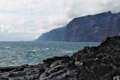 Visibilité directe Gigantes - littoral volcanique sur l'île de Ténérife Image stock