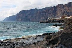 Visibilité directe Gigantes - littoral volcanique sur l'île de Ténérife Photos libres de droits