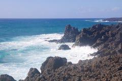Visibilité directe Hervideros 013 de Lanzarote Image libre de droits