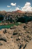 Visibilité directe Hervideros, Lanzarote photographie stock libre de droits