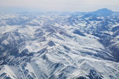 Visibilité directe les Andes de Cordillère De photo stock