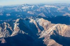 Visibilité directe les Andes de Cordillère De Photo libre de droits