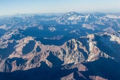 Visibilité directe les Andes de Cordillère De Photos stock
