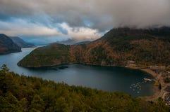 Visibilité directe les Andes de San Martin De, en Argentine Photographie stock libre de droits